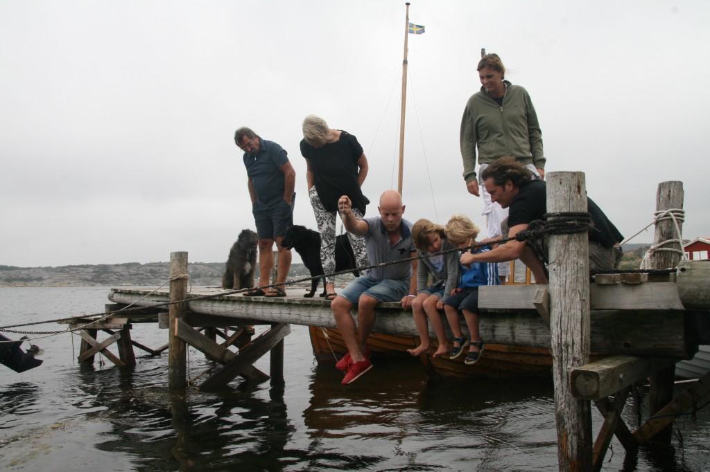 fishing on the jetti of lådfabriken